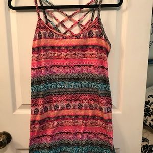 Colorful beach cover up